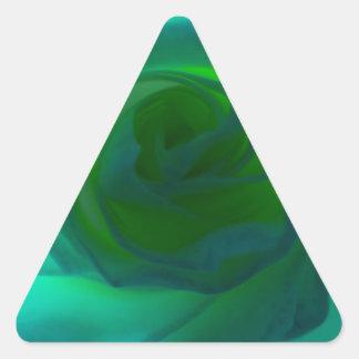 Blue Heart rose Triangle Sticker