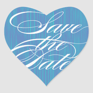 Blue Heart  |  Save the Date Envelope Seal Heart Sticker