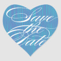 Blue Heart   Save the Date Envelope Seal sticker