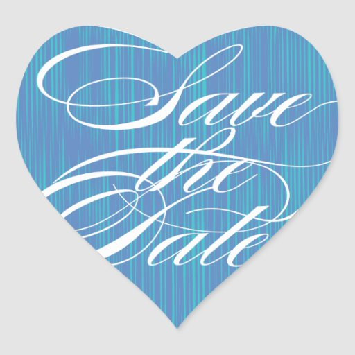 Blue Heart  |  Save the Date Envelope Seal Sticker