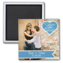 Blue Heart   Save the Date Photo Magnet magnet