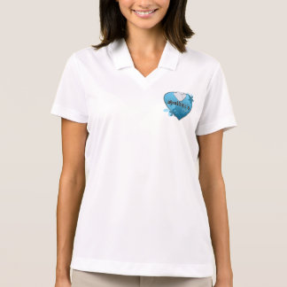 Blue Heart Shaped Dog Tags - Soldier's Wife Polo Shirt