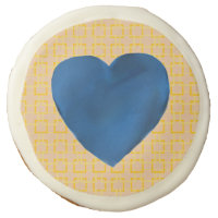 Blue Heart Sugar Cookie