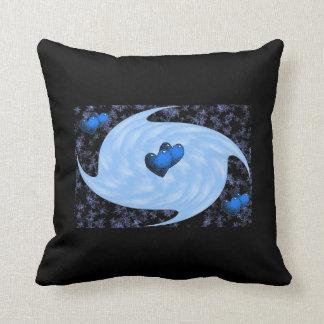 Blue Heart Swirl Pillow