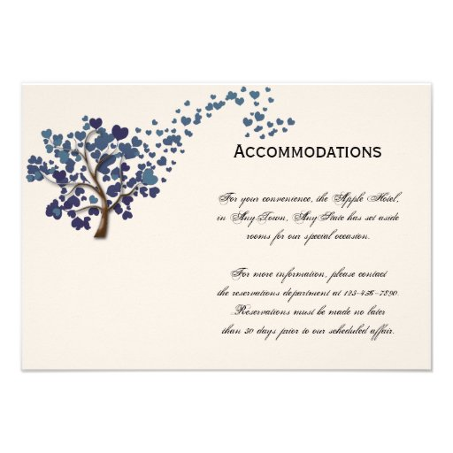 Blue Heart Tree on Ivory Accomodations Announcements