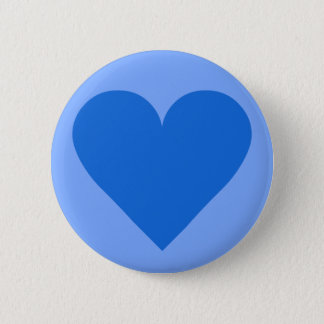 Blue Heart Valentine custom button