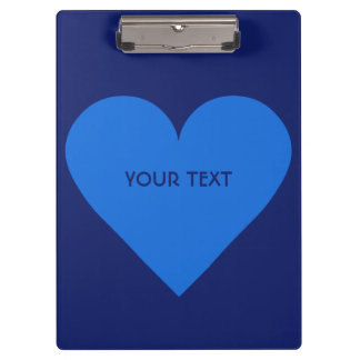 Blue Heart Valentine custom clipboard