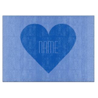 Blue Heart Valentine custom cutting board
