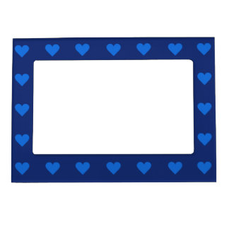 Blue Heart Valentine custom picture frame Magnetic Picture Frame