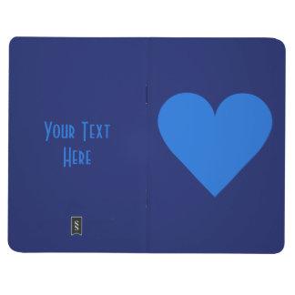 Blue Heart Valentine custom pocket journal