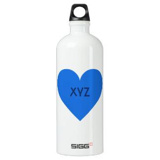 Blue Heart Valentine custom SIGG Traveler 1.0L Water Bottle