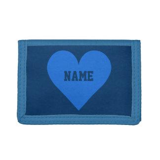 Blue Heart Valentine custom wallets