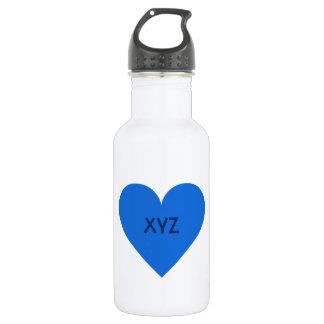 Blue Heart Valentine custom Water Bottle