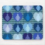 Blue Hearted Penguins Mousepad
