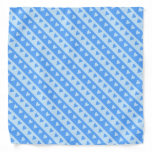 [ Thumbnail: Blue Hearts and Stripes Pattern Bandana ]