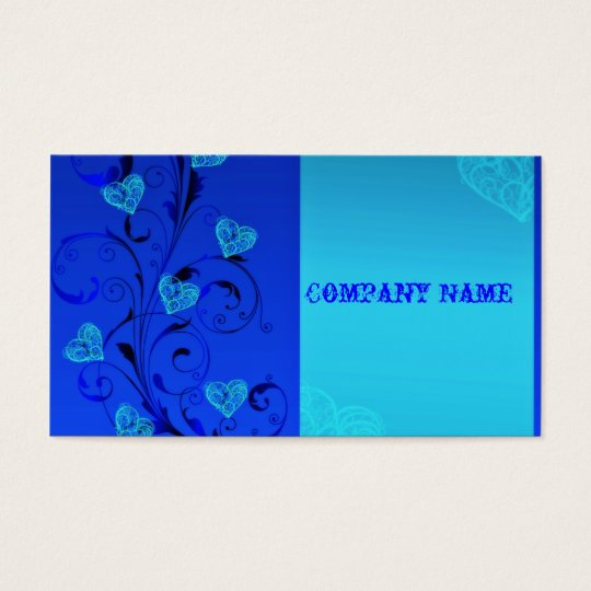 Blue Hearts Business Cards