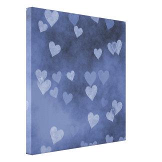 Blue Hearts Canvas Print