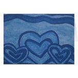 Blue Hearts Card