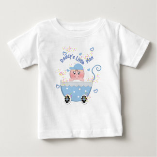 Blue Hearts Daddy's Little Man Baby Buggy T Shirt