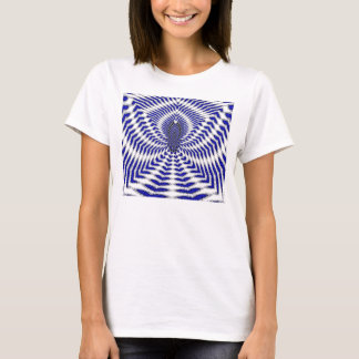 Blue Hearts Fractal Art T-shirt