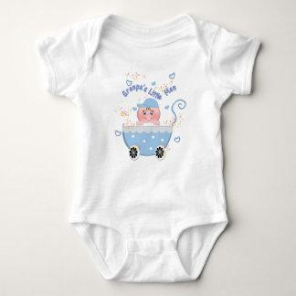 Blue Hearts Granpa's Little Man Baby Buggy Creeper