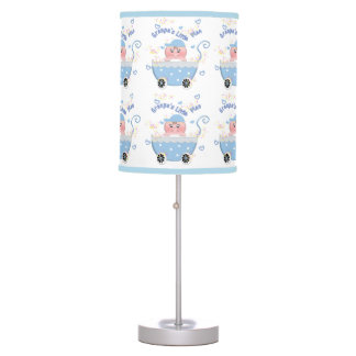 Blue Hearts Granpa's Little Man Baby Buggy Lamp
