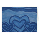 Blue Hearts Greeting Card