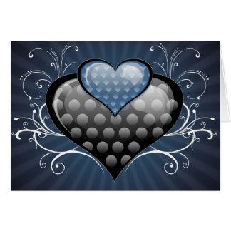 Blue hearts greeting cards