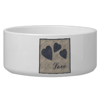 Blue Hearts Love Bowl
