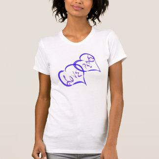 Blue Hearts Love Peace Shirts