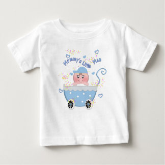 Blue Hearts Mommy's Little Man Baby Buggy T Shirt