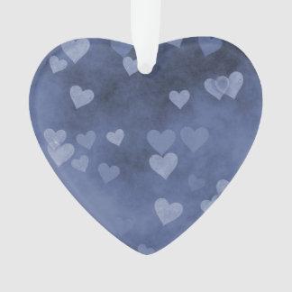 Blue Hearts Ornament