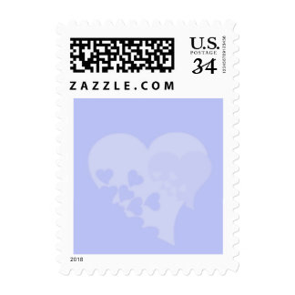 Blue Hearts Postage Stamps