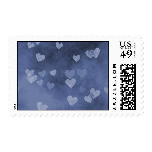 Blue Hearts Stamp