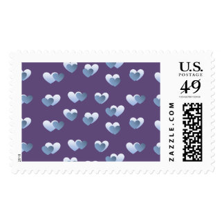 Blue Hearts Stamps