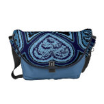 Blue Hearts & Stars Rickshaw Messenger Bag