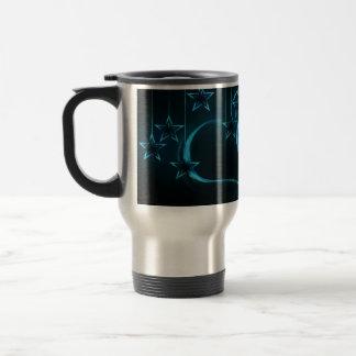 Blue Hearts & Stars Travel Mug