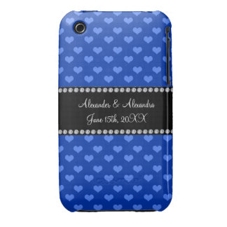 Blue hearts wedding favors iPhone 3 case