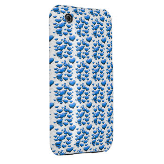 Blue Hearts with Wings iPhone 3 Case-Mate Cases