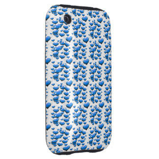 Blue Hearts with Wings Tough iPhone 3 Cover