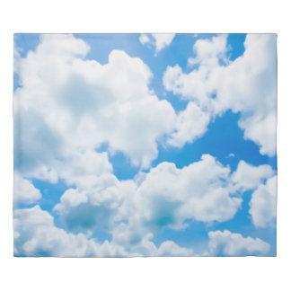 Blue Heaven Clouds II + your text & ideas Duvet Cover