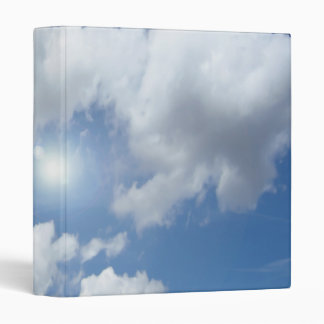 Blue Heaven Clouds + your ideas 3 Ring Binder