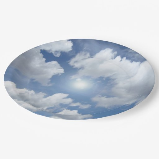 blue heaven clouds your ideas 9 inch paper plate zazzle. Black Bedroom Furniture Sets. Home Design Ideas