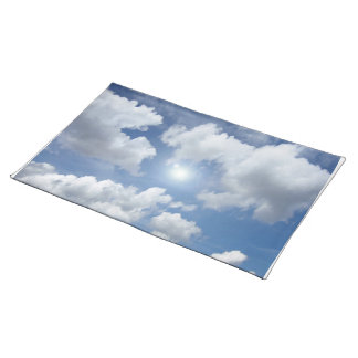 Blue Heaven Clouds + your ideas Cloth Placemat