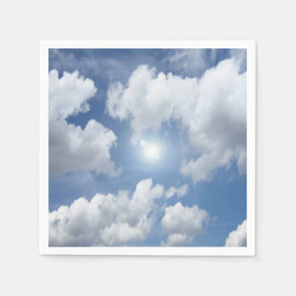 Blue Heaven Clouds + your ideas Paper Napkin