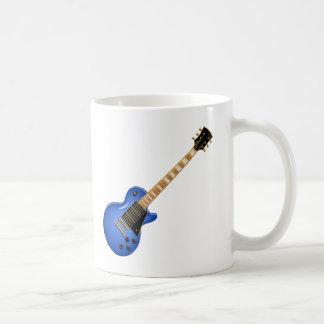 Blue Heavy Metal Electric Guitar Coffee Mug