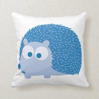 Blue Hedgehog Throw Pillows