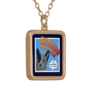 Blue Heeler Gold Plated Necklace