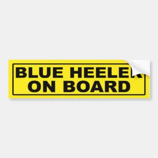 Blue Heeler on Board Car Bumper Sticker