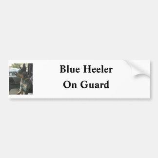 Blue Heeler On Guard Bumper Sticker